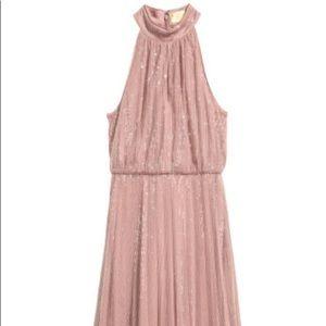 Long pink sequin dress size 4 H&M